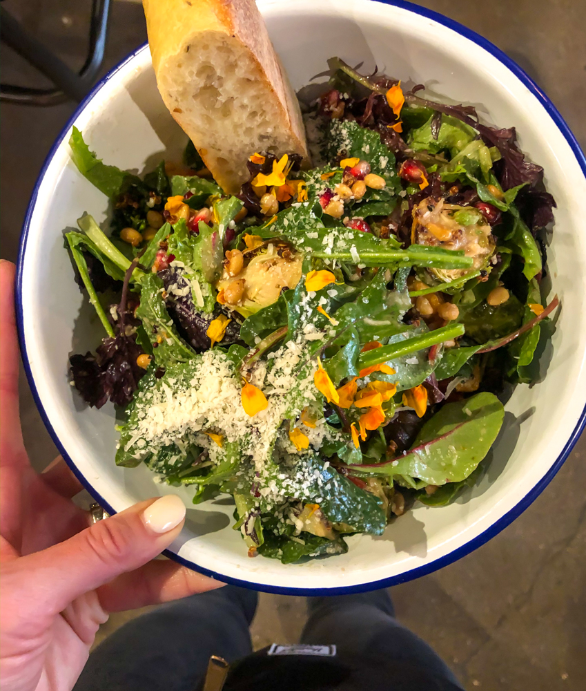 Blue Barn salad by A Lady Goes West -- October 2019