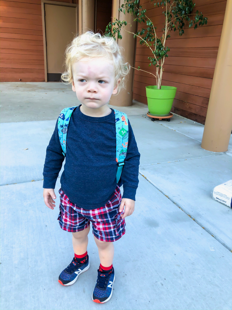 Sweet Brady at preschool by A Lady Goes West -- October 2019