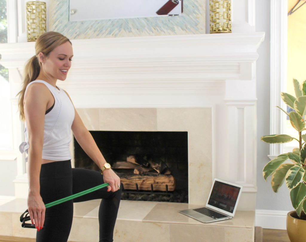 How to safely work out at home by A Lady Goes West