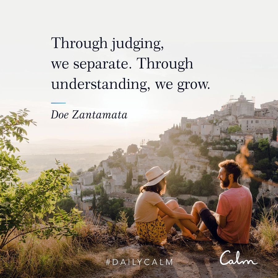 Calm quote on judgement