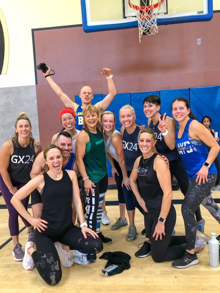Les Mills ATTACK group pic by A Lady Goes West -- December 2019