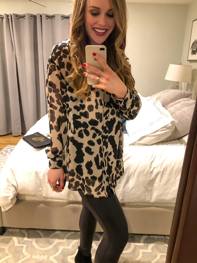 Animal print blouse by A Lady Goes West - January 2020