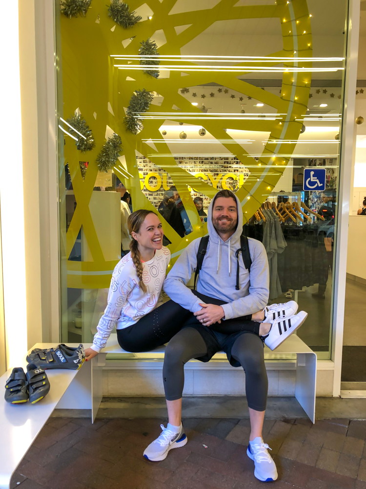 Ashley and Dave at SoulCycle by A Lady Goes West - 2020