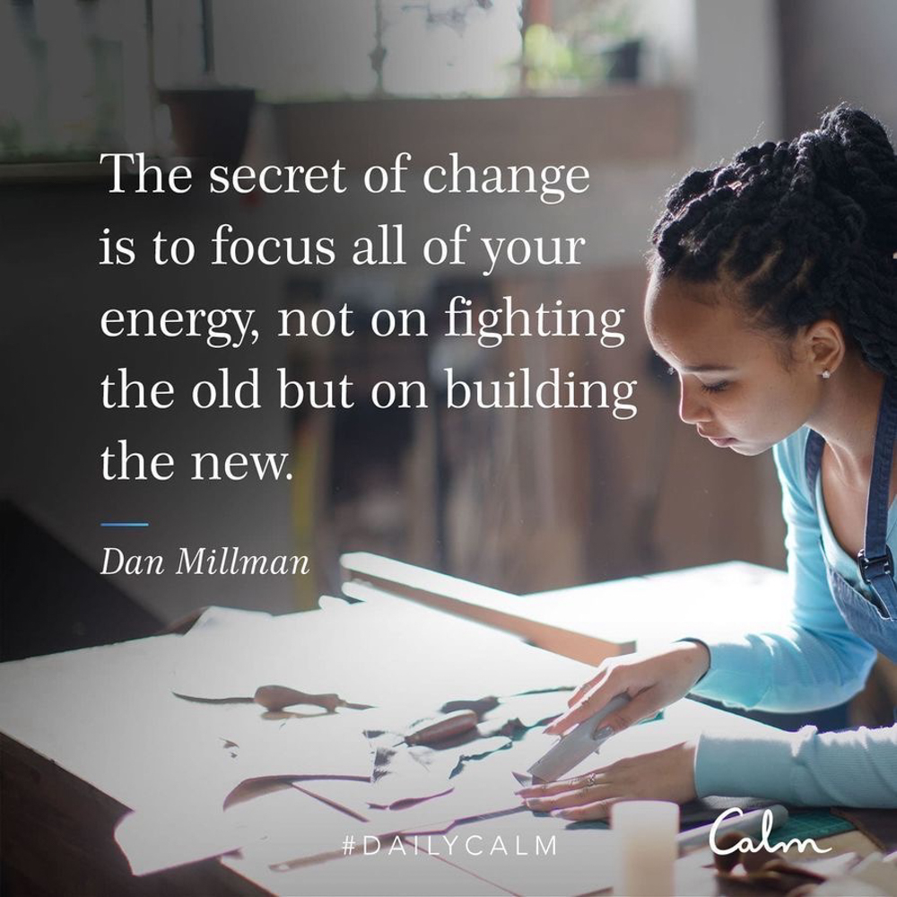 Focus on building CALM quote by A Lady Goes West - 2020