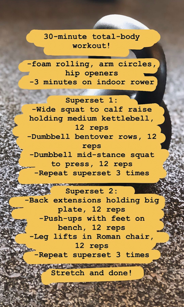 Full-body birthday workout by A Lady Goes West - 2020