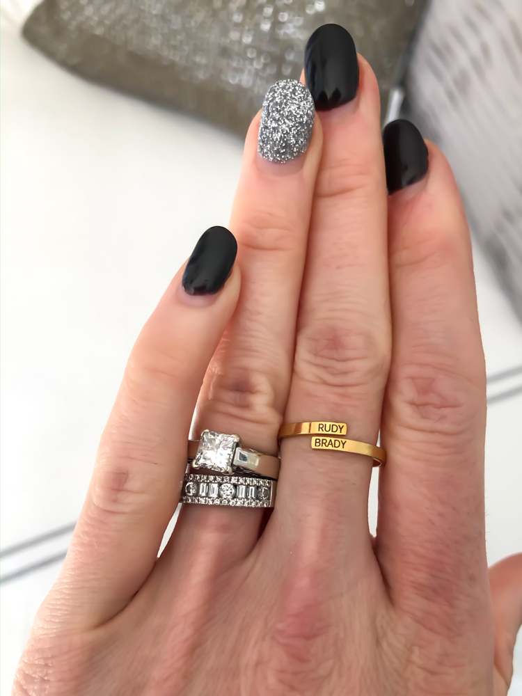 Personalized ring by A Lady Goes West - January 2020