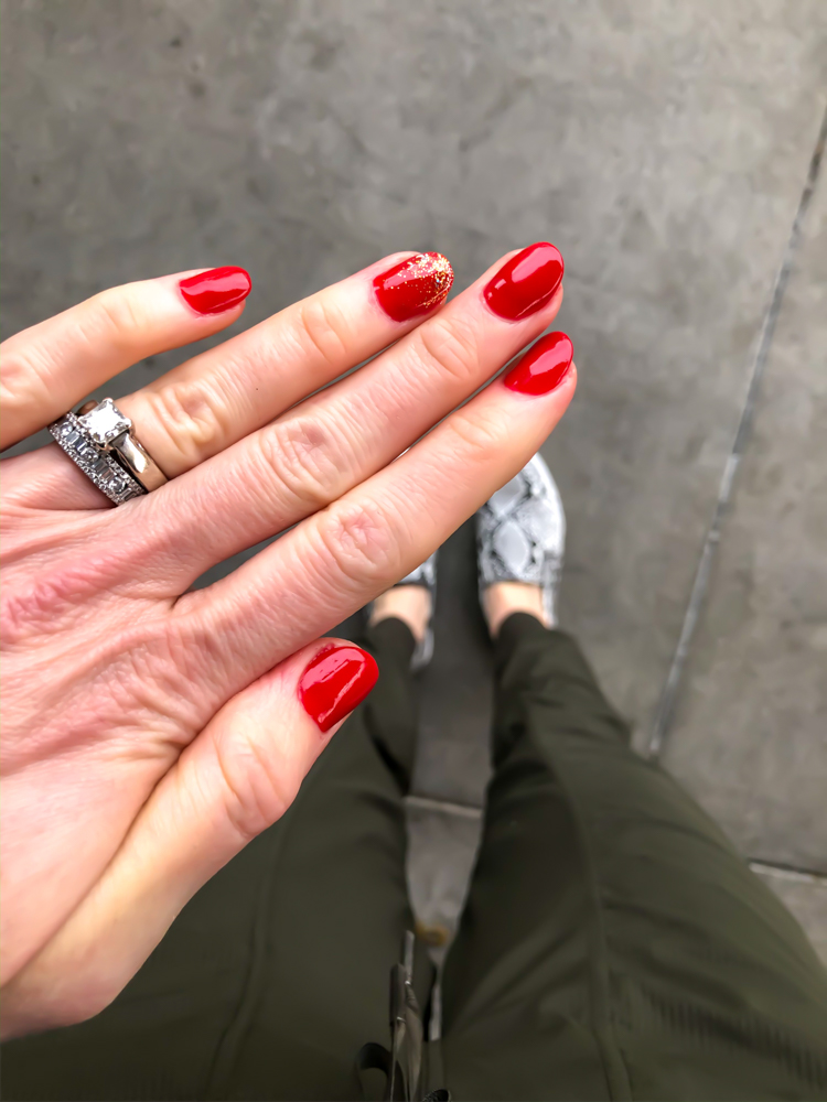 Red nails by A Lady Goes West - January 2020