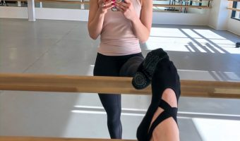 Ashley at Ballet class A Lady Goes West - February 2020