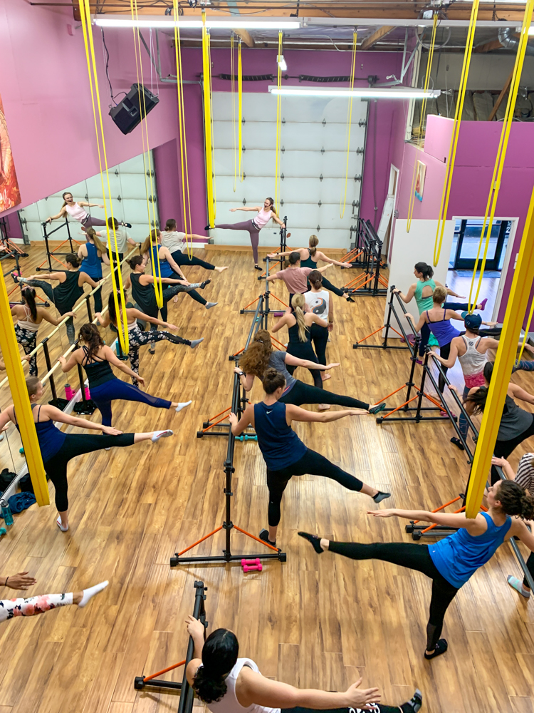 Barre workout at the barre, beauty and bubbles event - by A Lady Goes West - February 2020