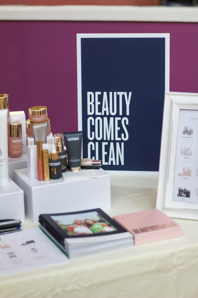 Beauty setup at the barre, beauty and bubbles event - by A Lady Goes West - February 2020