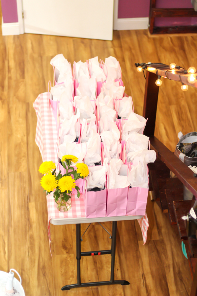 Gift bags at the barre, beauty and bubbles event - by A Lady Goes West - February 2020