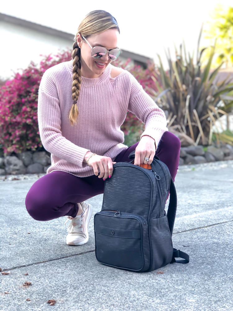 Lululemon backpack by A Lady Goes West - February 2020