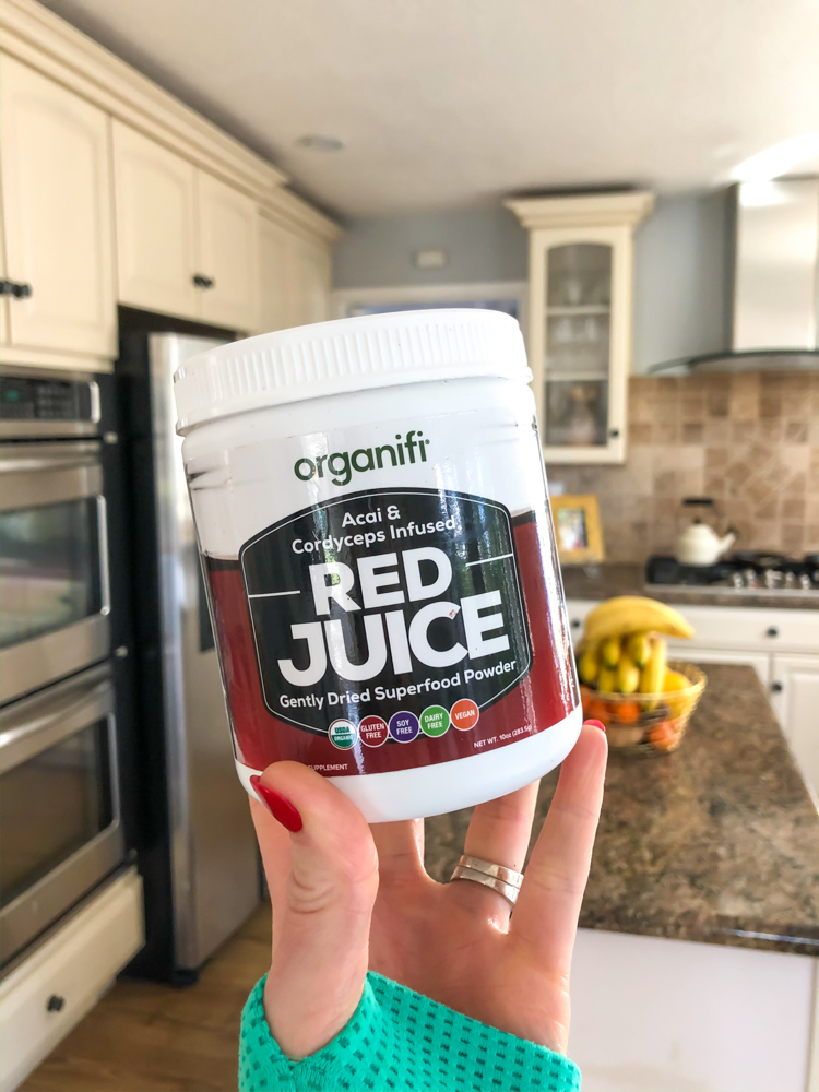 Organifi red juice by A Lady Goes West - February 2020