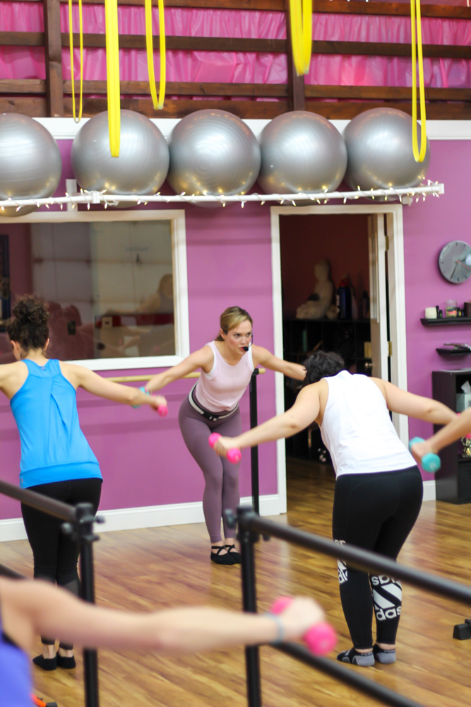 Weights workout at the barre, beauty and bubbles event - by A Lady Goes West - February 2020