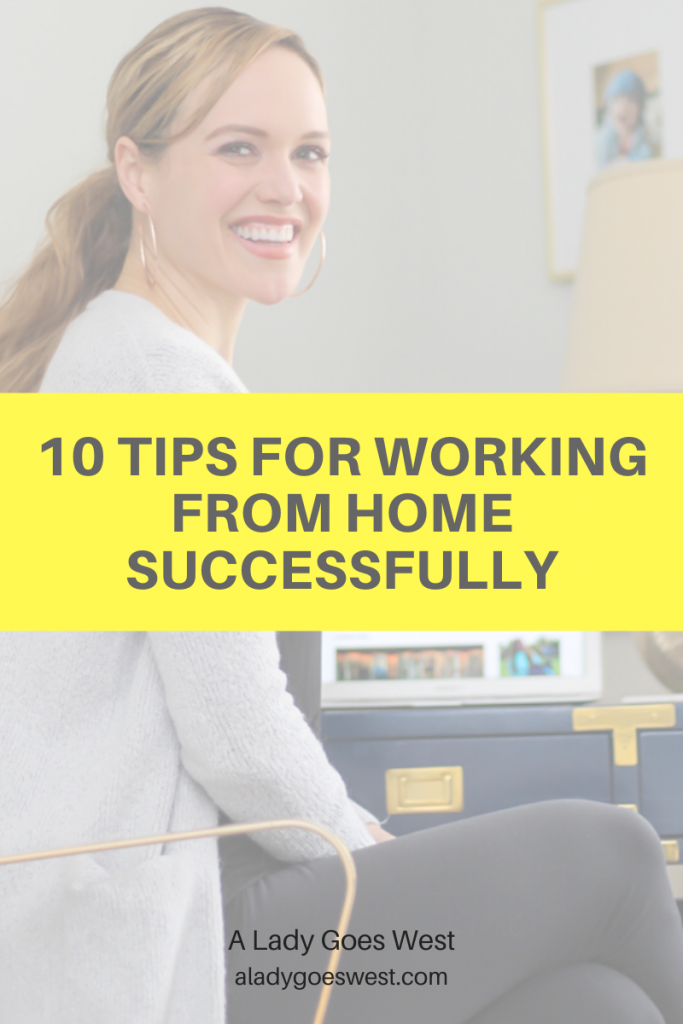 10 tips for working from home successfully by A Lady Goes West