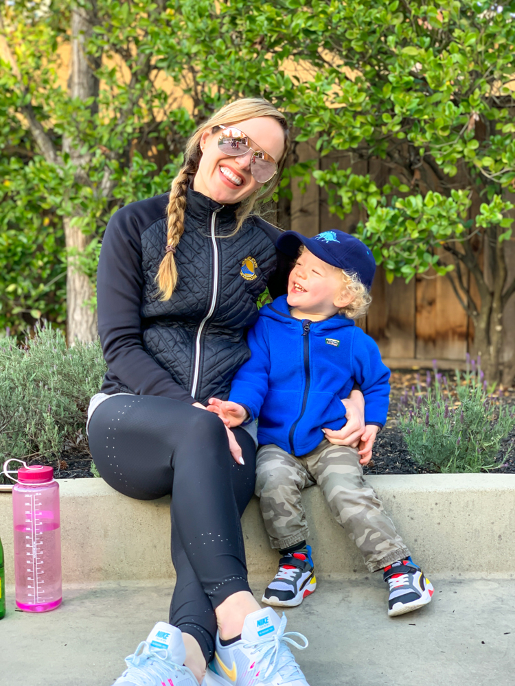 Ashley and Brady on the step - by A Lady Goes West - March 2020