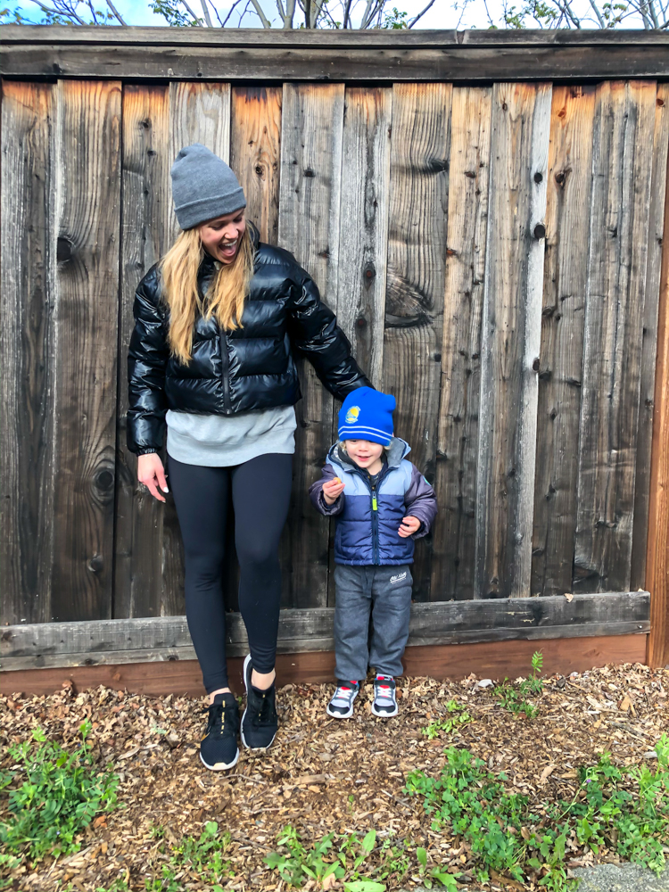 Ashley and Brady out on a walk - by A Lady Goes West - March 2020