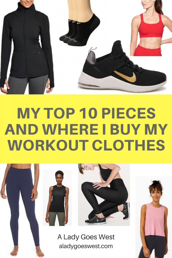 My top 10 pieces and where I buy my workout clothes by A Lady Goes West