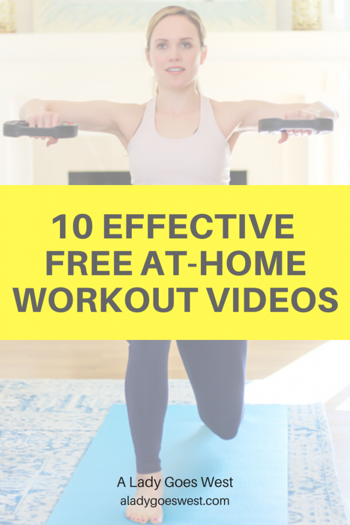 10 effective free at-home workout videos by A Lady Goes West