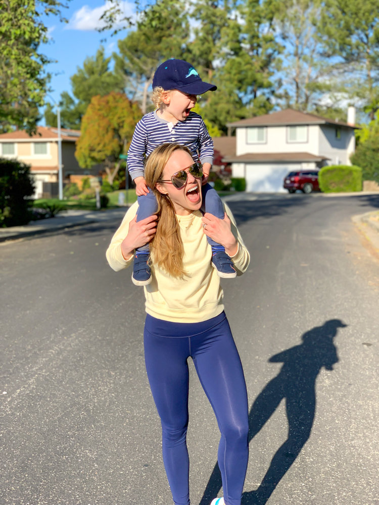 Ashley and Brady on a walk - by A Lady Goes West - April 2020
