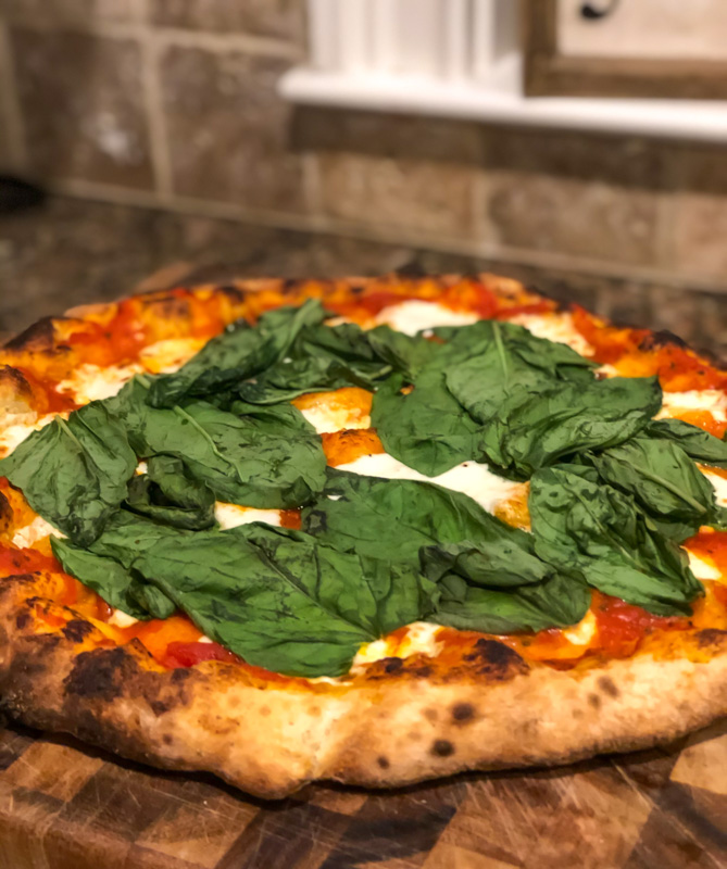 Homemade pizza - by A Lady Goes West - May 2020