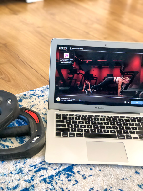 Peloton app strength workout - by A Lady Goes West - May 2020