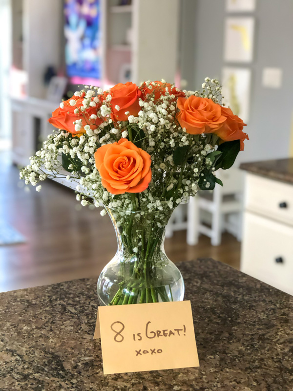8-year anniversary flowers - by A Lady Goes West - May 2020