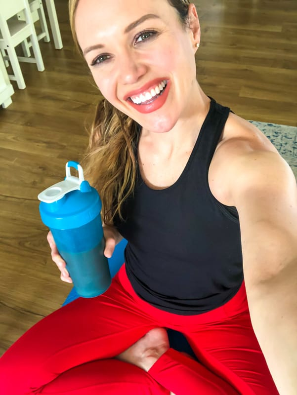 Ashley with Organifi shake - by A Lady Goes West - May 2020
