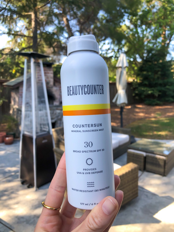 Beautycounter sunscreen mist - by A Lady Goes West - May 2020