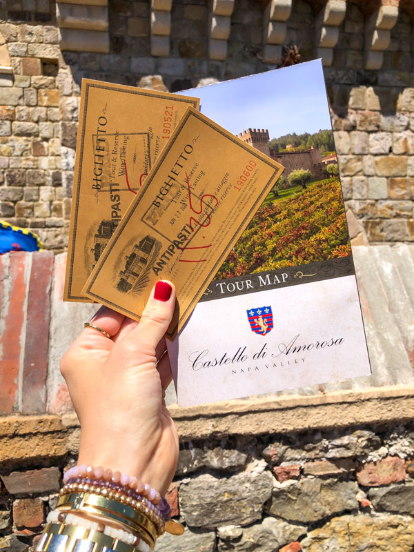 Castello di Amorosa tickets by A Lady Goes West - July 2020