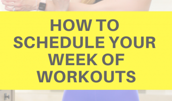 How to schedule your week of workouts by A Lady Goes West