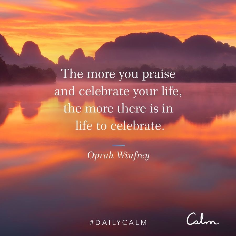 Oprah quote from Calm by A Lady Goes West