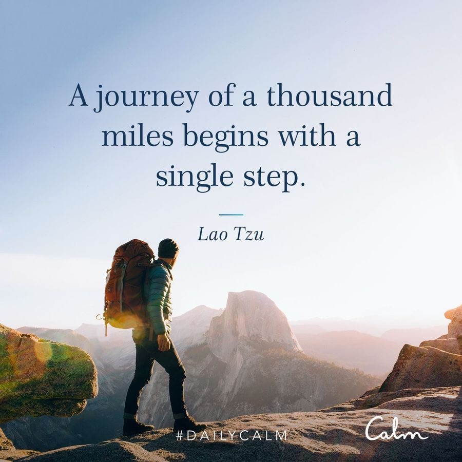 Thousand steps quote by CALM