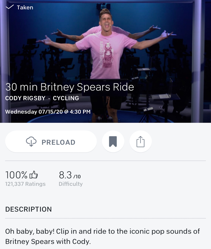 Britney Spears ride by A Lady Goes West - July 2020