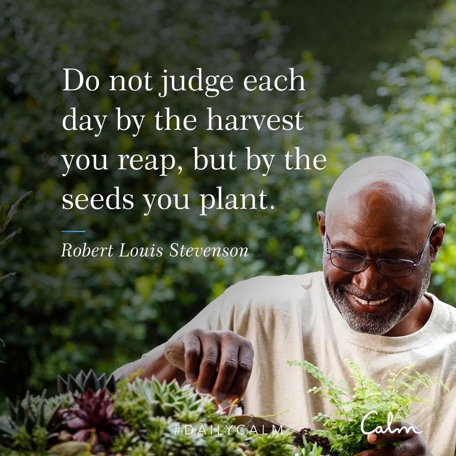 Calm quote about harvest