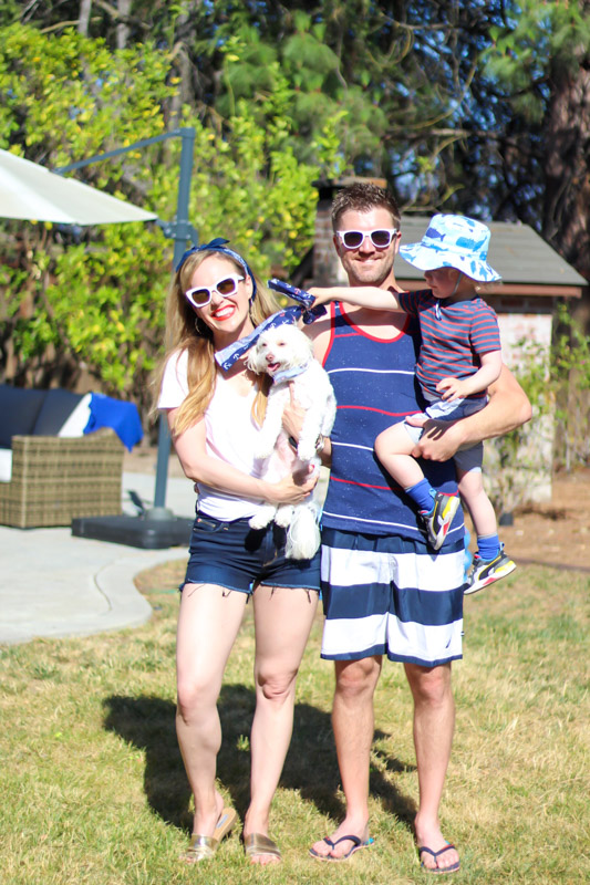 Fourth of July family pic years by A Lady Goes West - July 2020