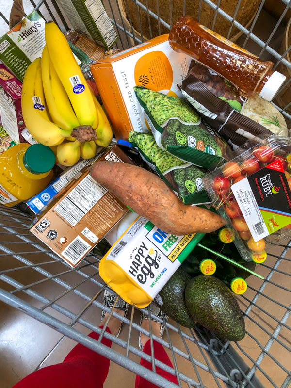 Full grocery cart by A Lady Goes West - July 2020