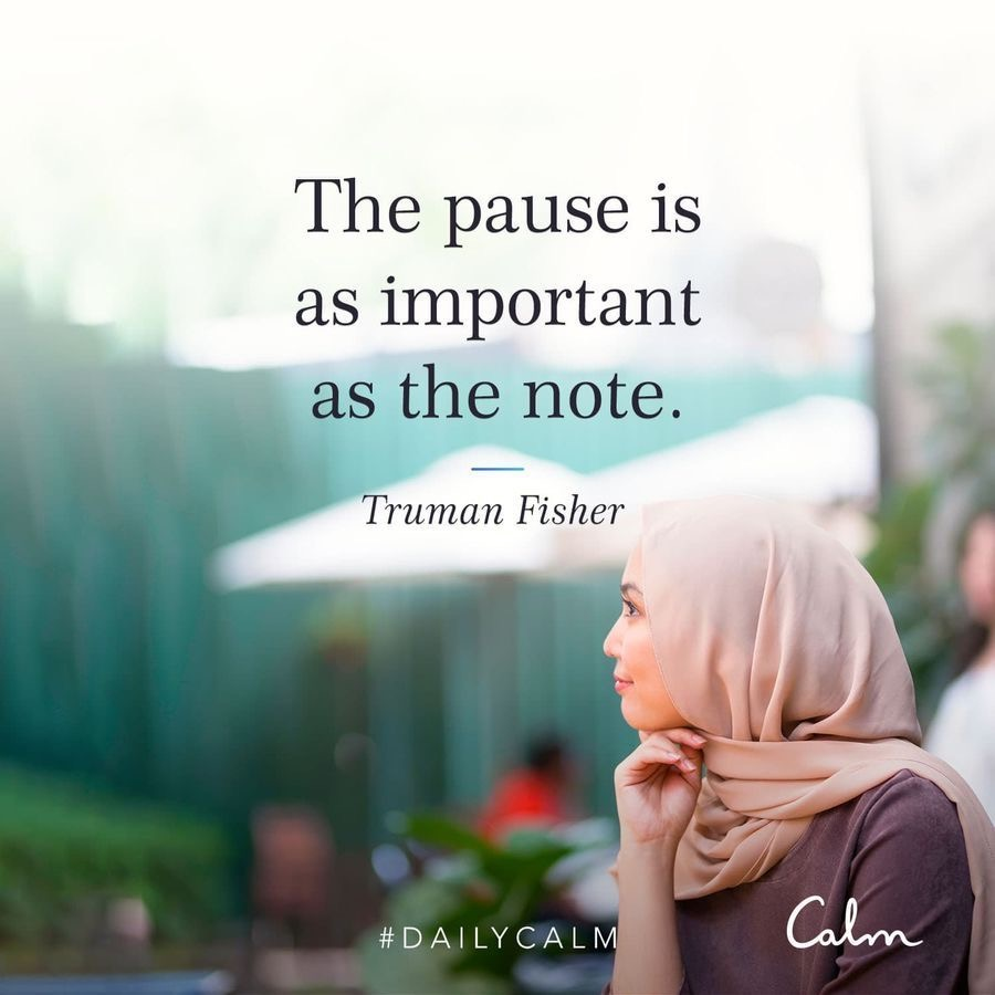 Pause Calm quote