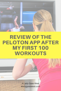 review of the peloton app after my first 100 workoutsa