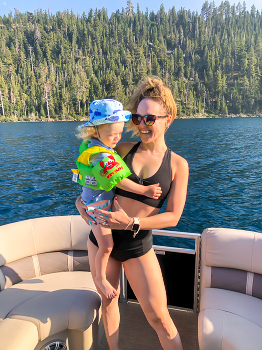 Ashley and Brady at Emerald Bay Tahoe by A Lady Goes West