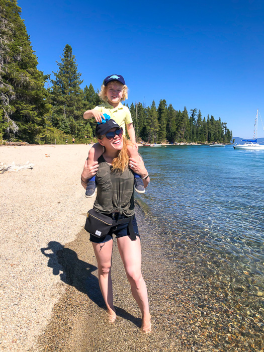 Ashley and Brady at Sugar Pine Beach Tahoe by A Lady Goes West