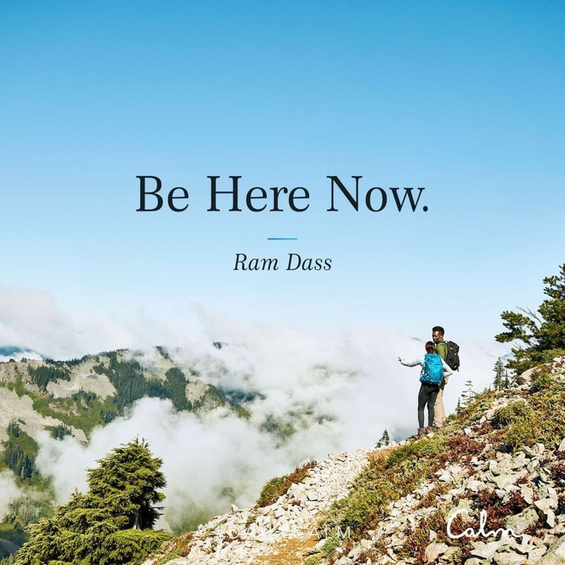 Be Here Now Calm quote by A Lady Goes West - August 2020