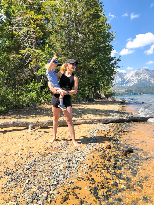 Brady and Ashley at Kiva Beach Tahoe by A Lady Goes West