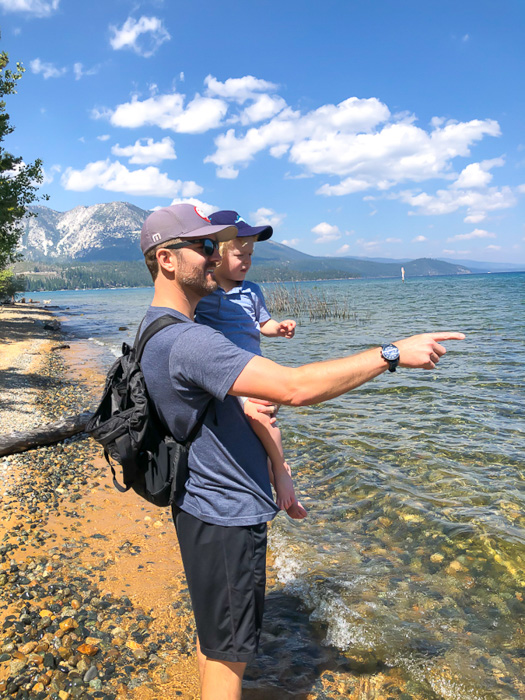 Brady and Dave at Kiva Beach Tahoe by A Lady Goes West