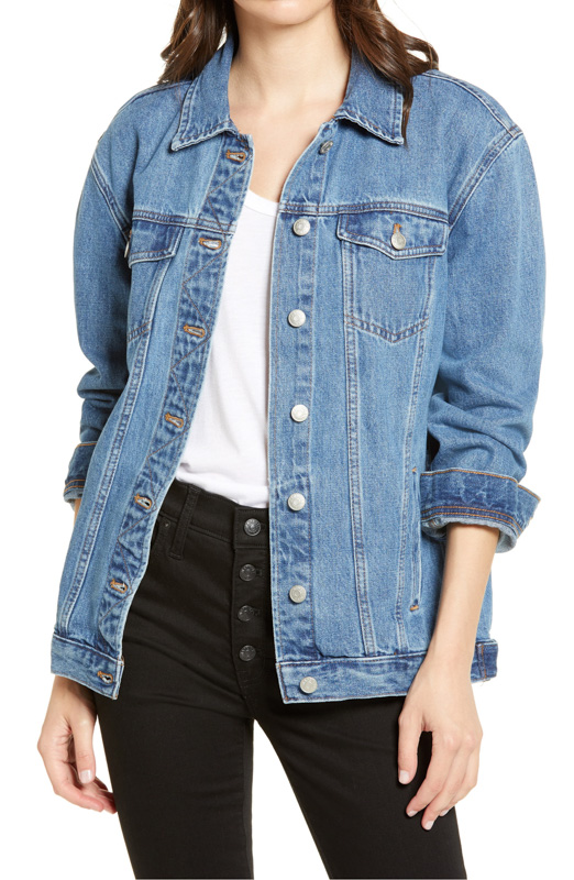 Oversized denim jacket by A Lady Goes West - August 2020