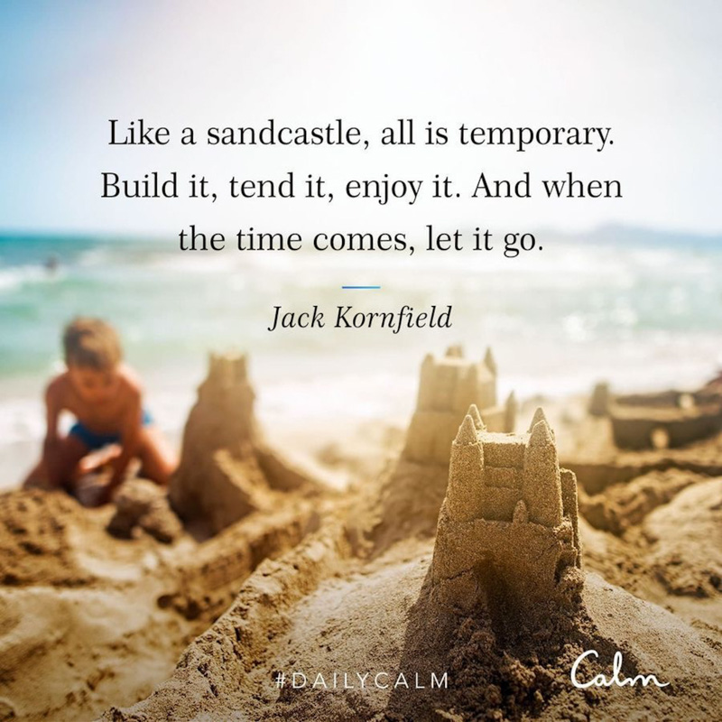 Sandcastle quote by A Lady Goes West - August 2020