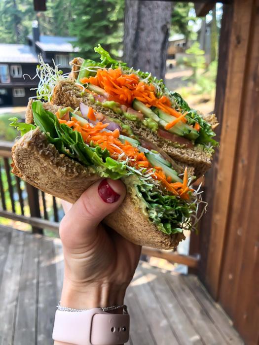 Veggie sandwich from West Short Market by A Lady Goes West