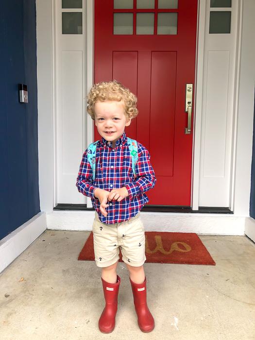 Brady before preschool by A Lady Goes West