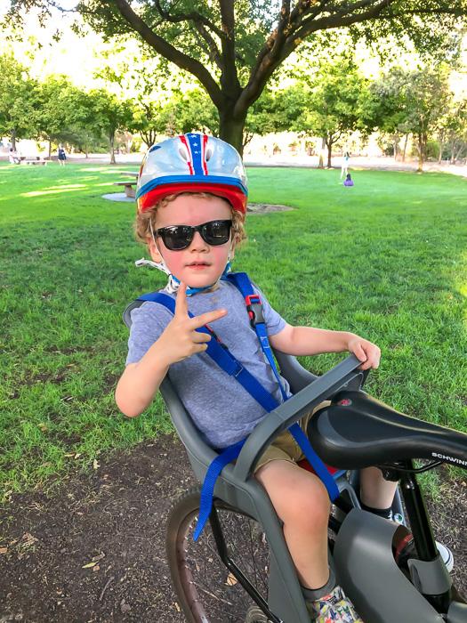 Brady on the bike by A Lady Goes West