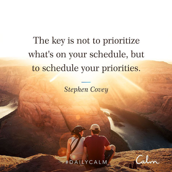 Calm quote about priorities by A Lady Goes West